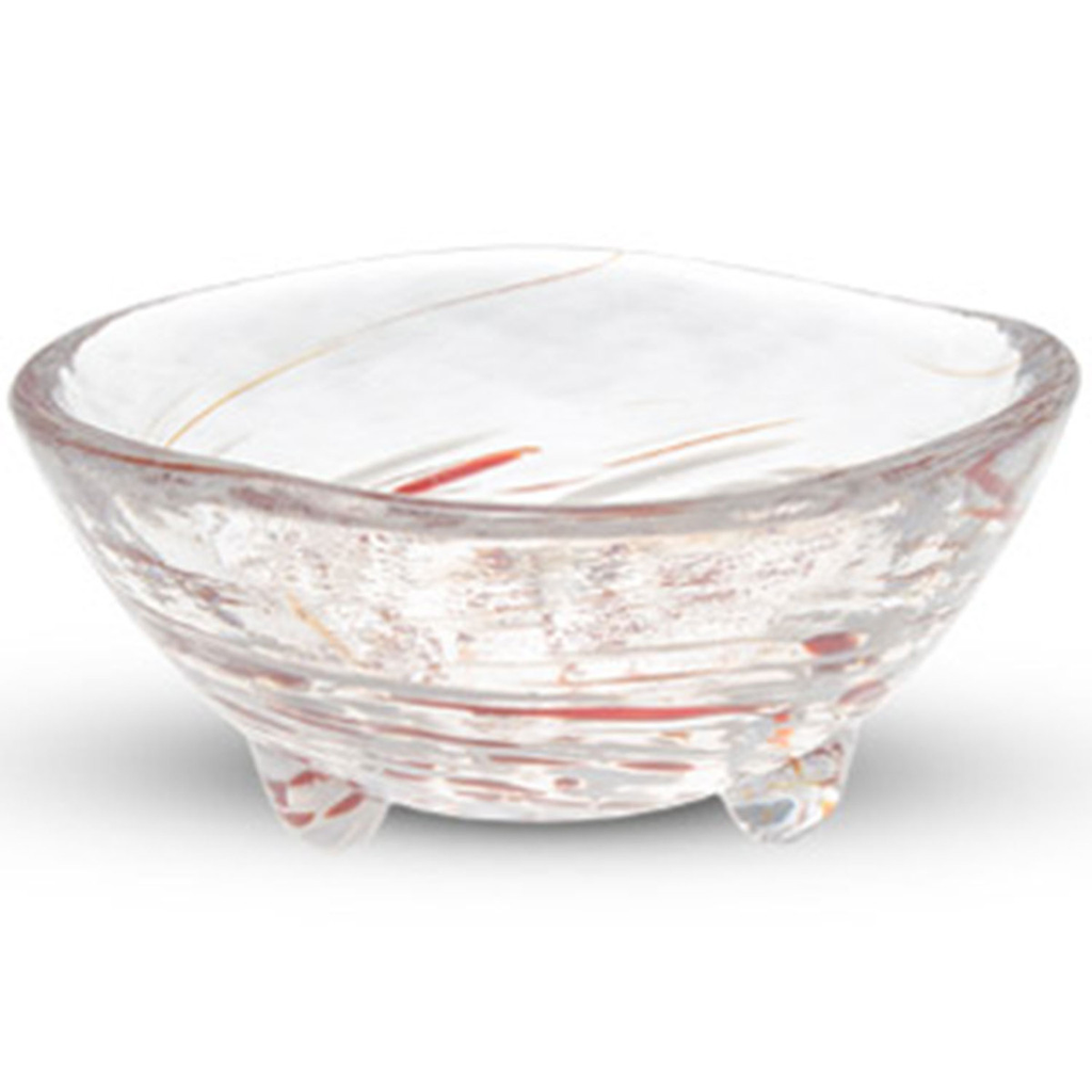 Kurage Red Round Glass Bowl 2 oz