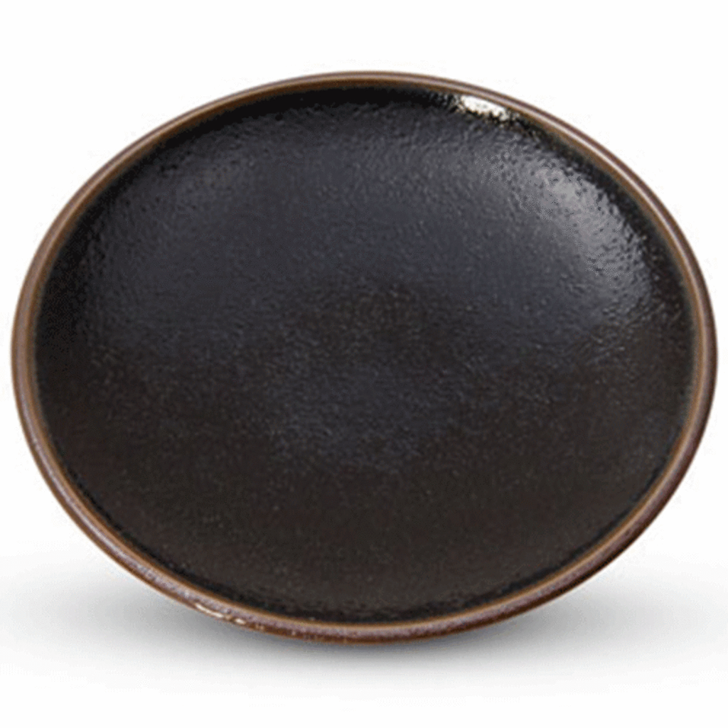 Yuzu Tenmoku Black Round Plate (available in 3 sizes