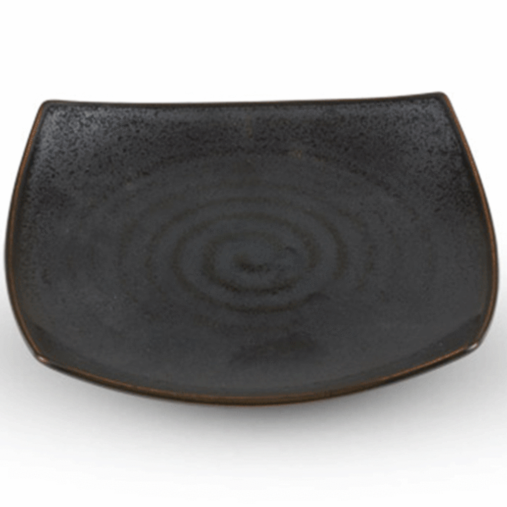 Tessa Black Square Plate