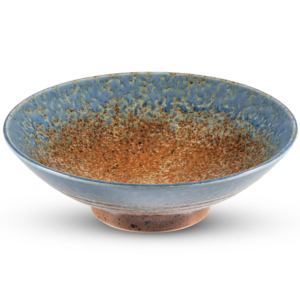 Ainagashi Blue Brown Round Bowl