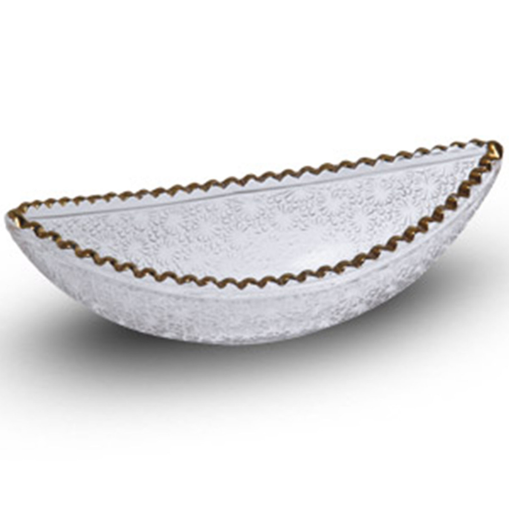 Kiku Gold Glass Boat Bowl 4 oz