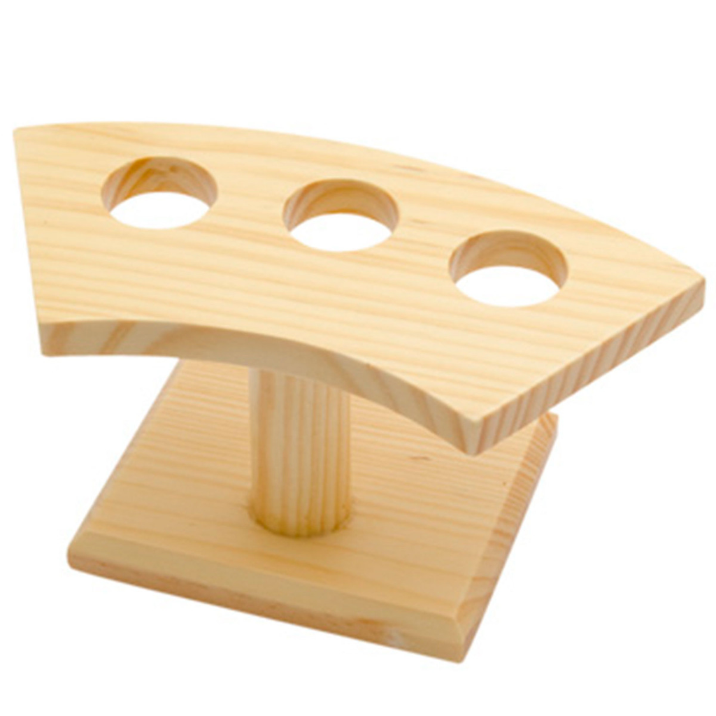 Wooden Hand Roll Stand - 3 Holes