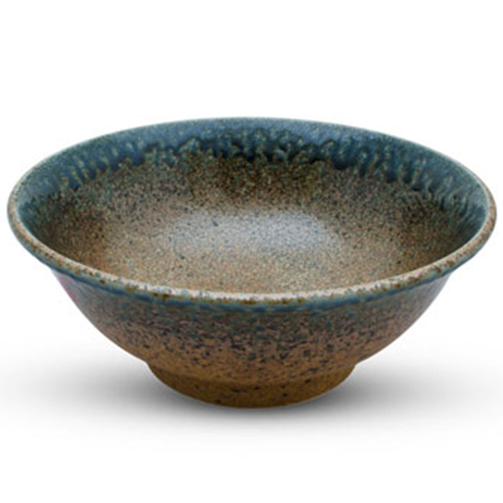 Ainagashi Blue Brown Round Bowl 41 oz