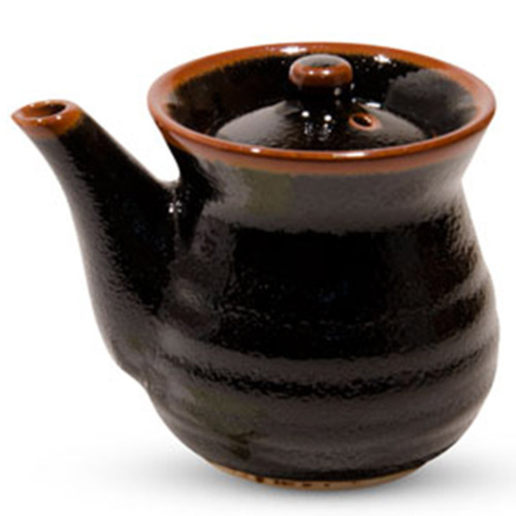 Yuzu Tenmoku Black Sauce Pot 8 oz