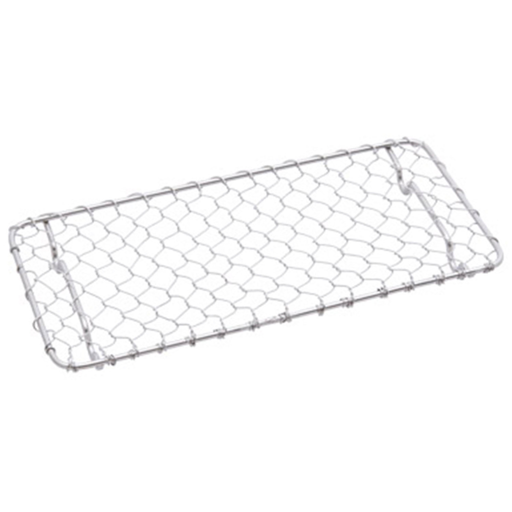 "Stainless Rectangular Net For Tonkatsu 7.2""L X 4""W X 0.5""H"
