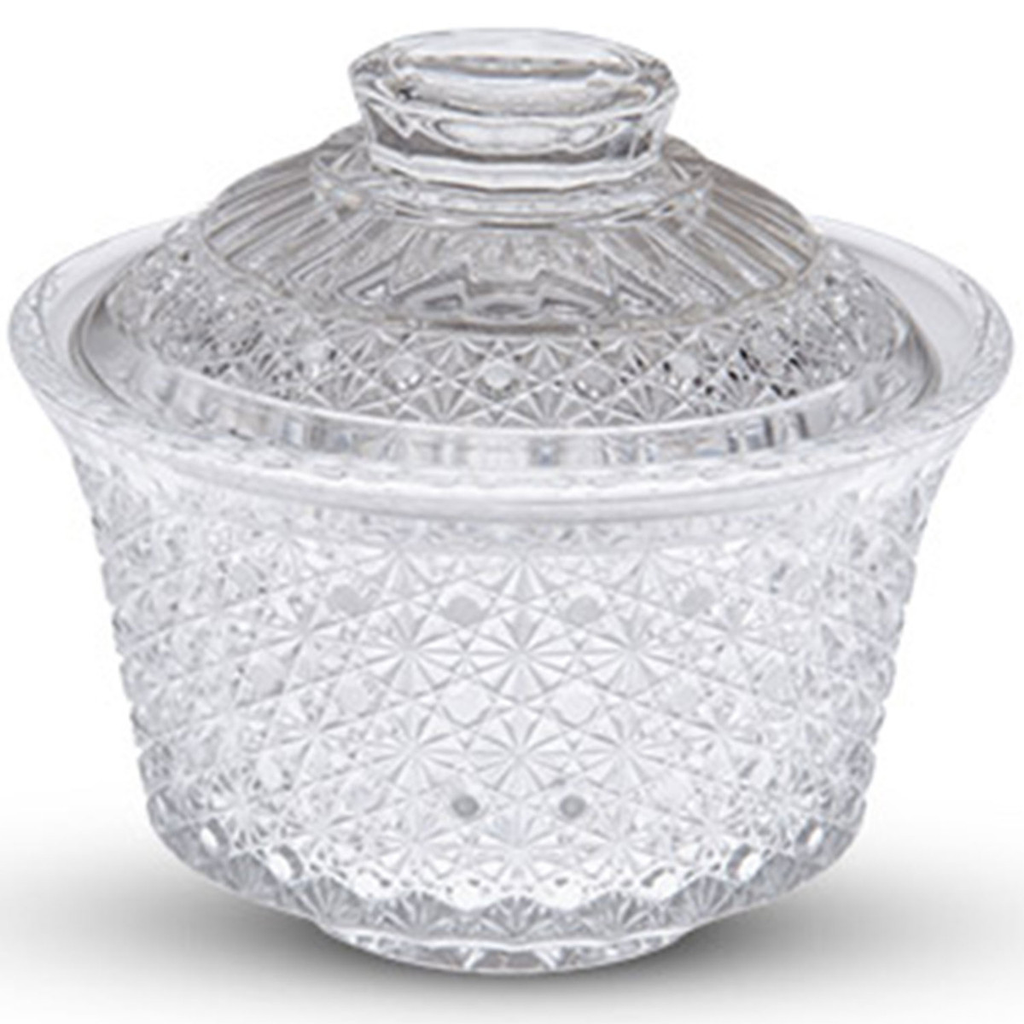 Kiku Glass Lidded Bowl 12 oz
