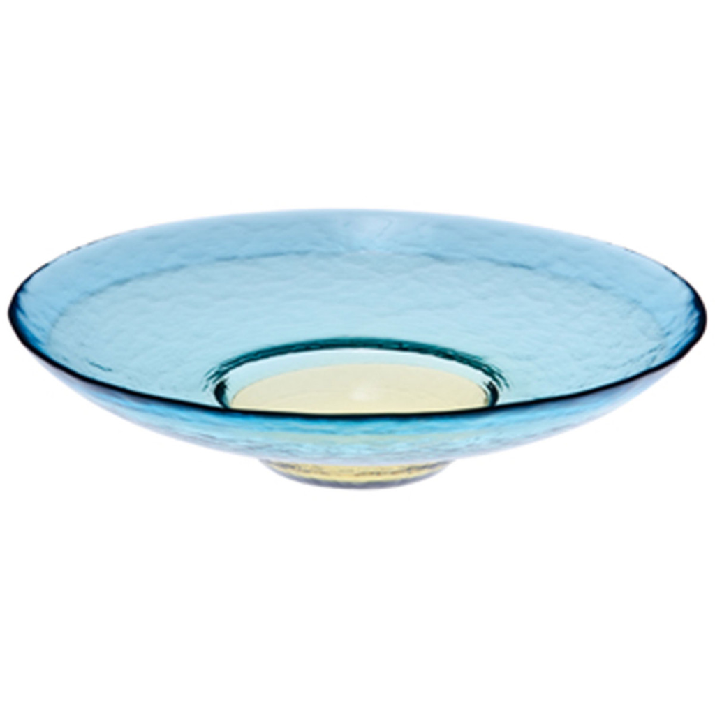 Pirka Cobalt Wide Rimmed Glass Plate (available in 2 sizes)