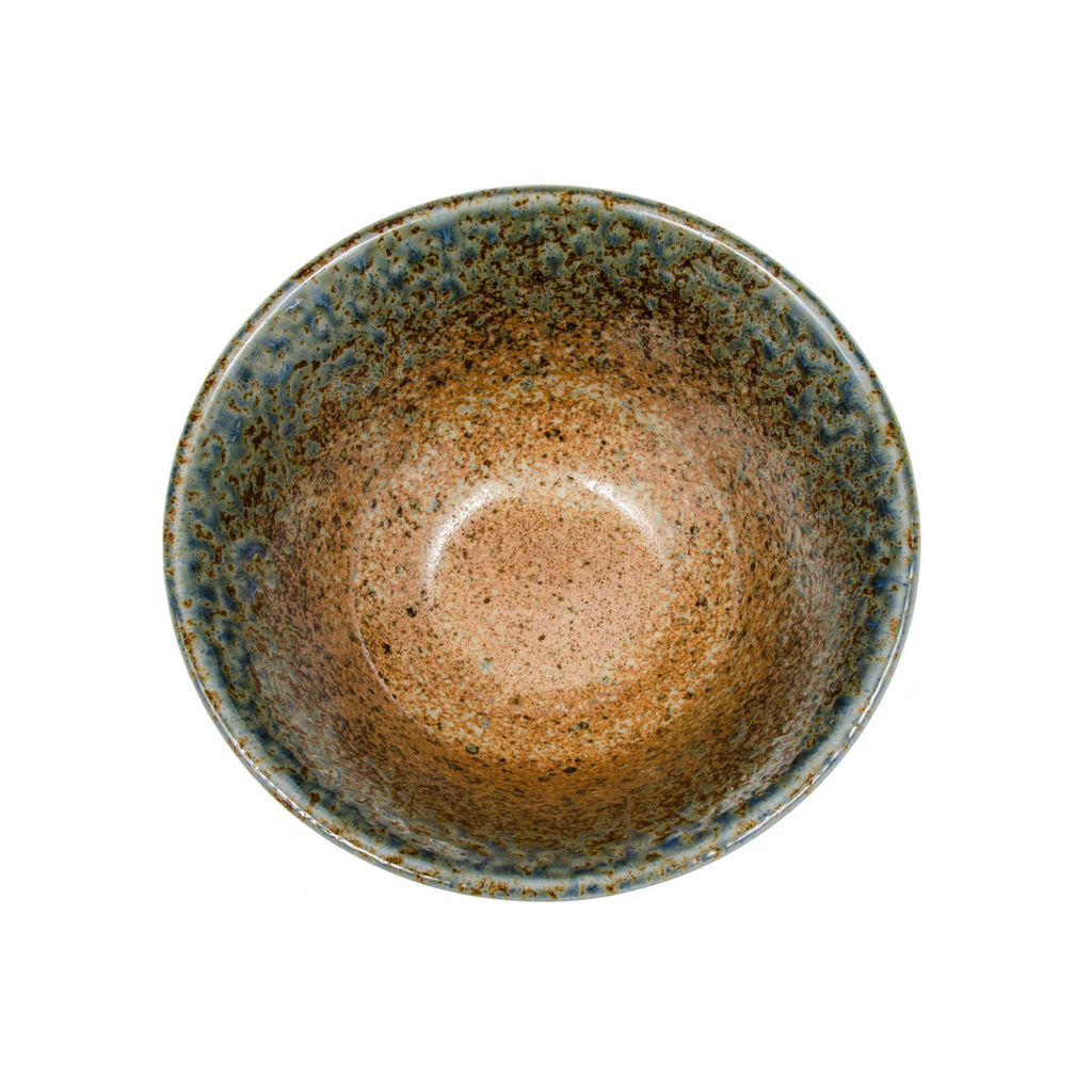 Ainagashi Blue Brown Round Bowl 27 oz