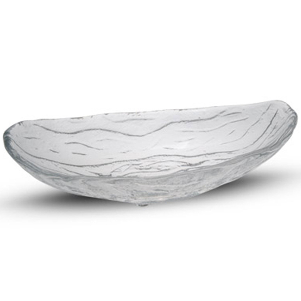 Icy Oval Glass Bowl 3 oz