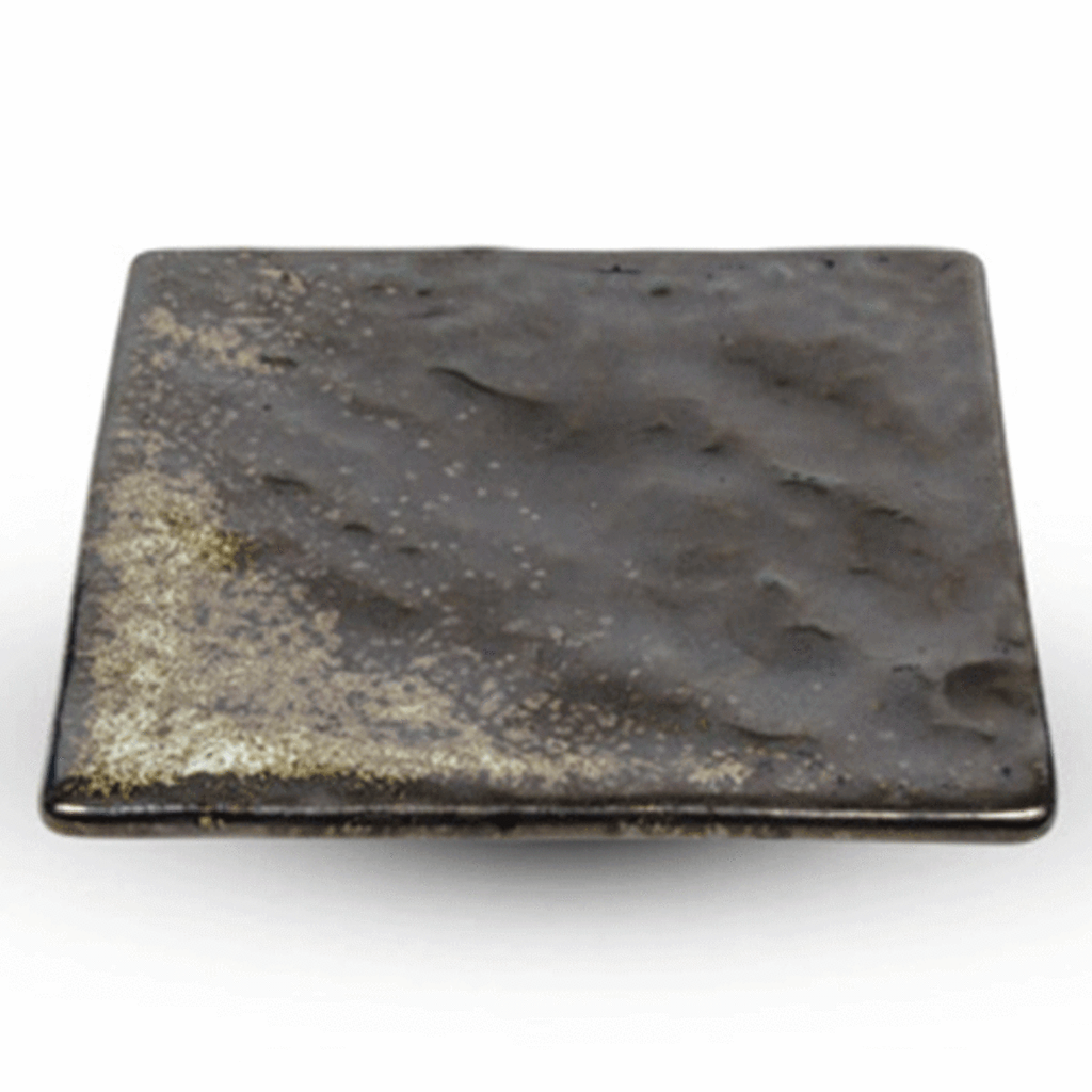 Metallic Slate Gray Square Plate