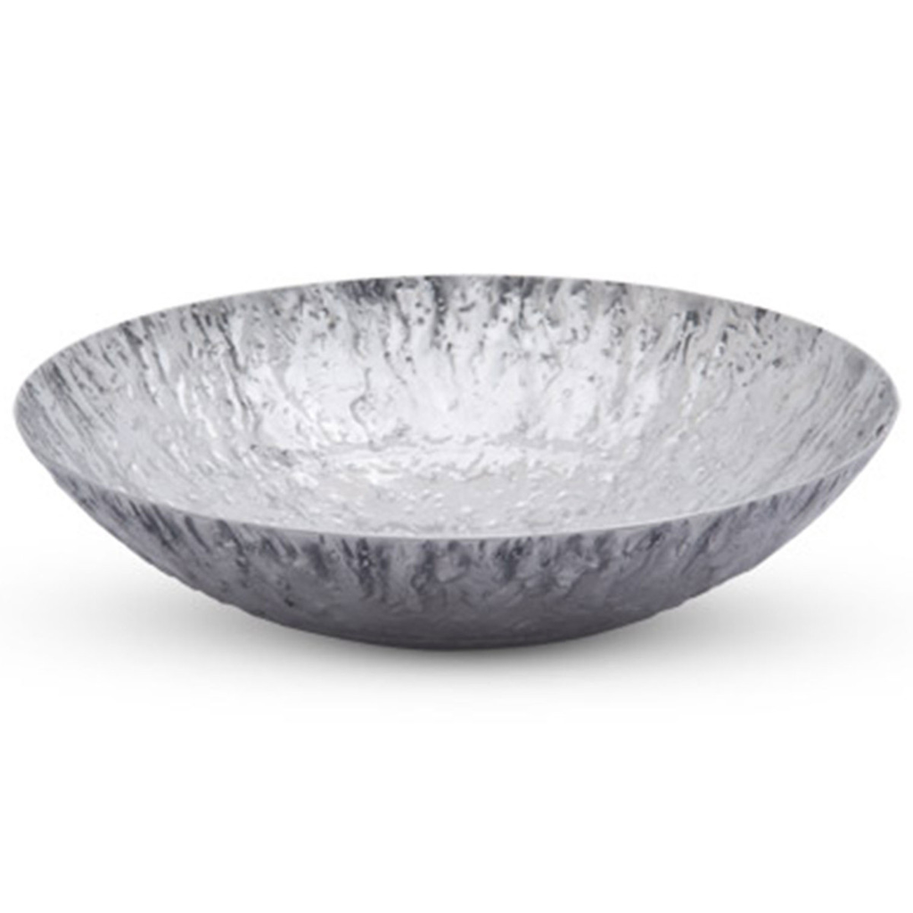 Stainless Textured Bowl 28 oz