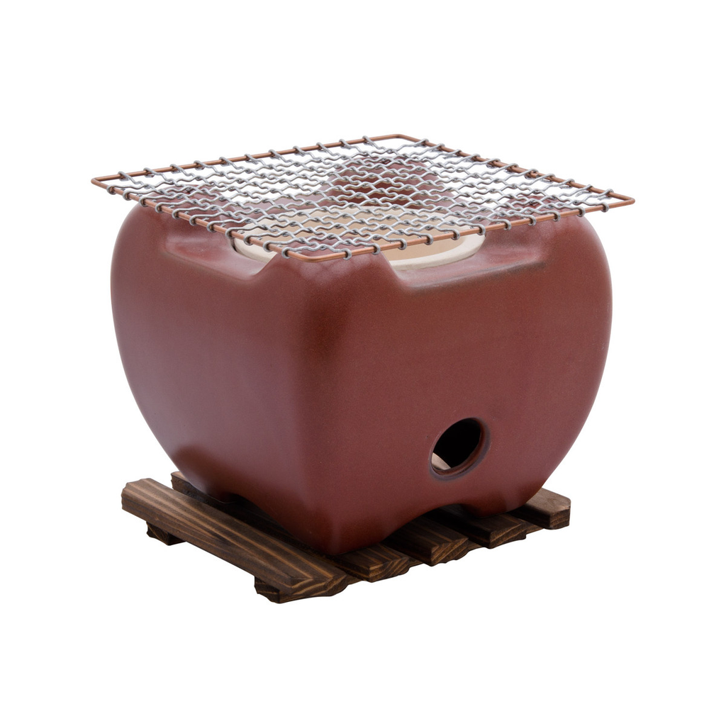 Red Konro Grill (Net & Wooden Base Sold Separately)