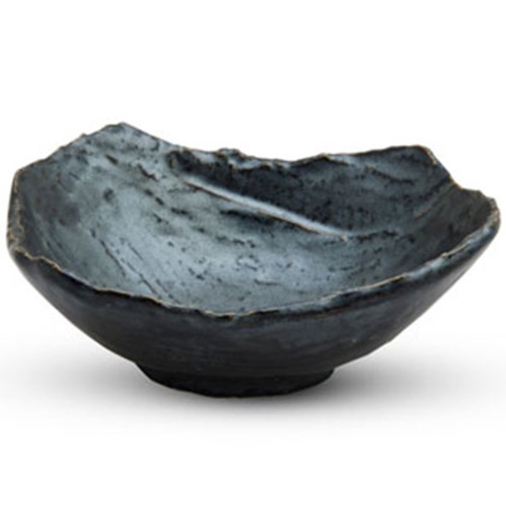 "Tessa Black Abstract Bowl 6""x 4.7"" x 2.5""H - 10oz"