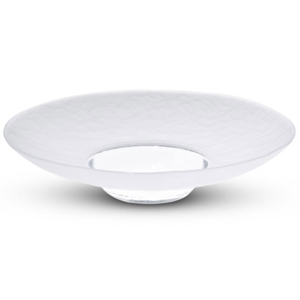Eisberg Frosted Wide Rimmed Glass Plate (available in 2 sizes)