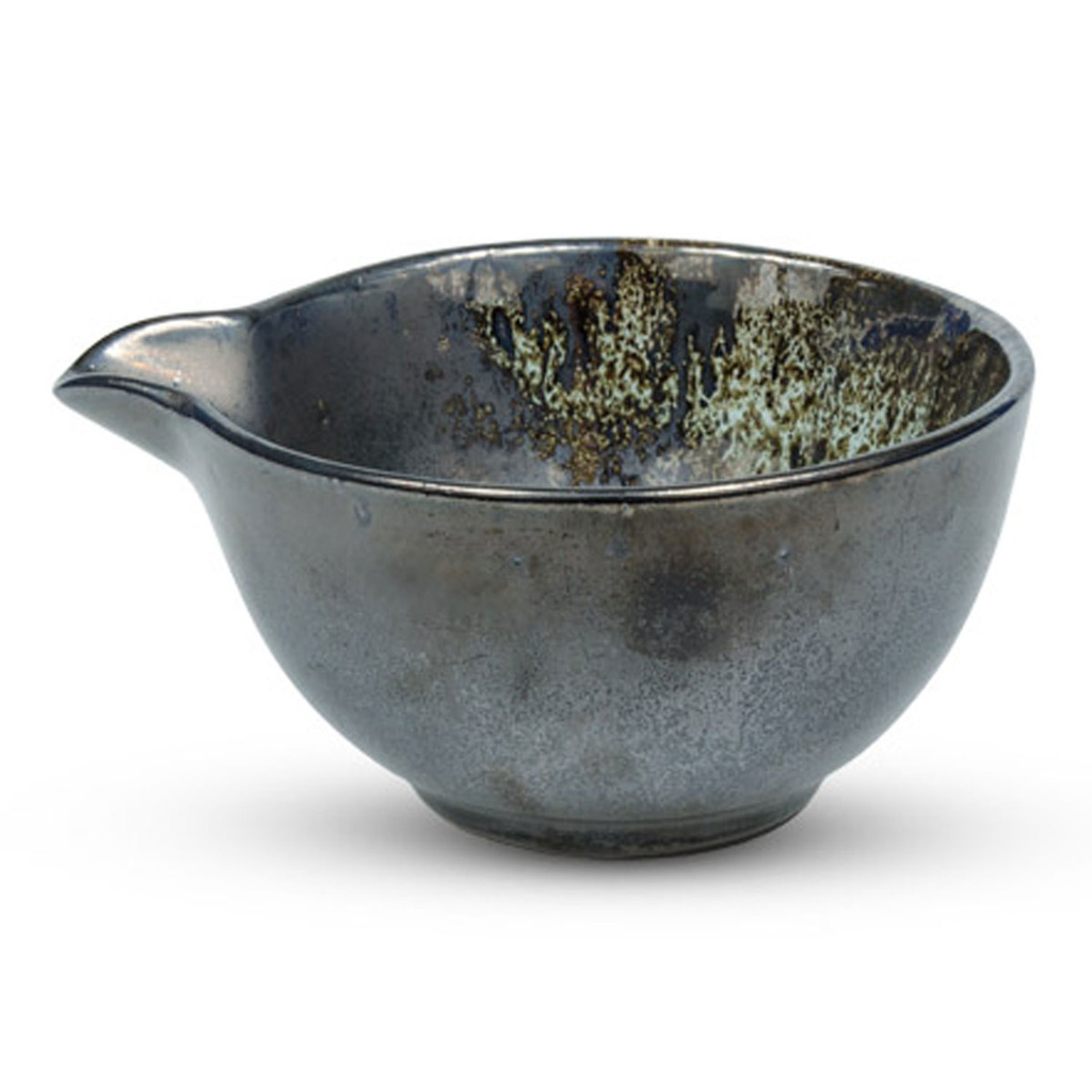 Metallic Slate Gray Spouted Bowl