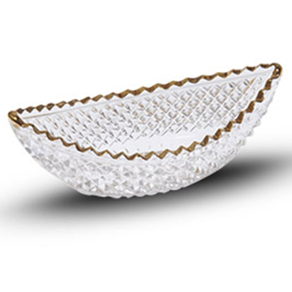 Kiku Gold Glass Boat Bowl 1.25 oz