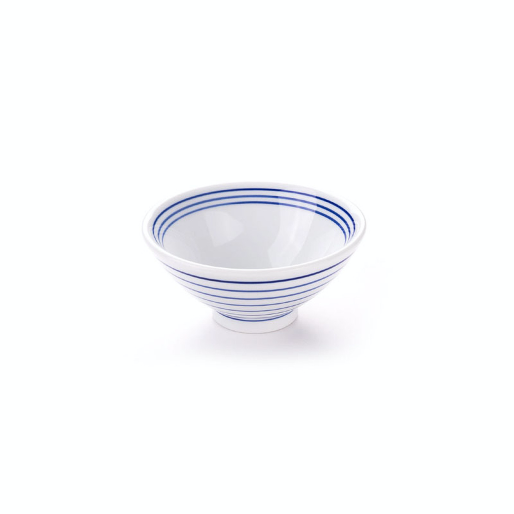 Retro Blue Striped Bowl 48 / per case (2 sizes)