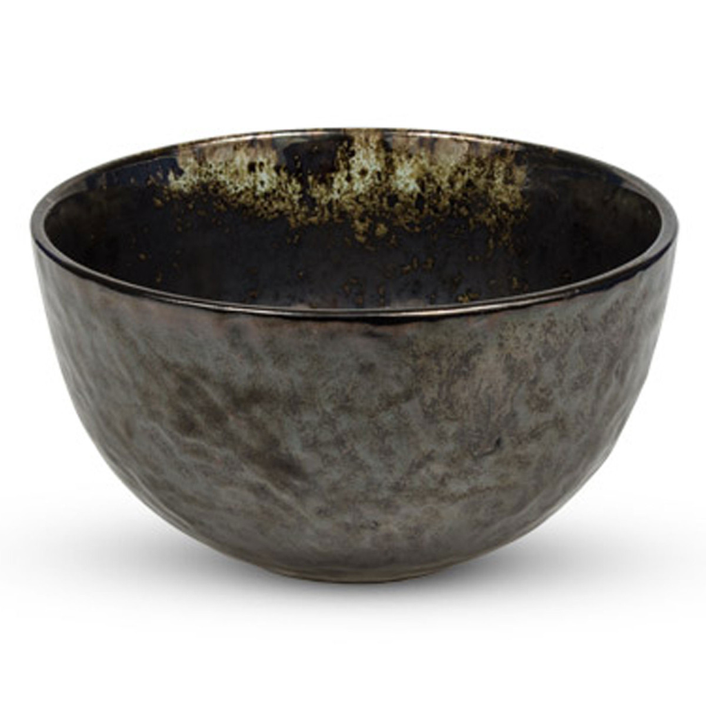 Metallic Slate Gray Round Bowl 29 oz