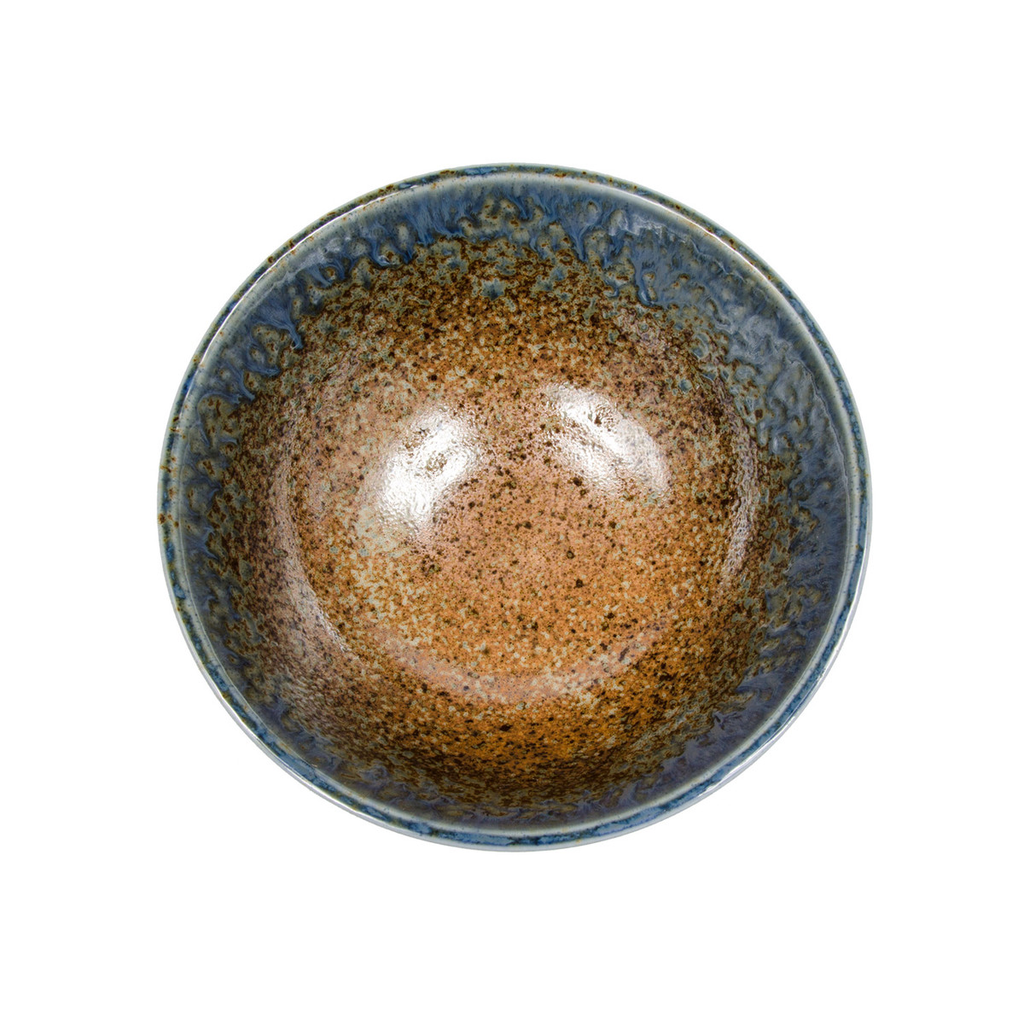 Ainagashi Blue Brown Round Bowl 39 oz