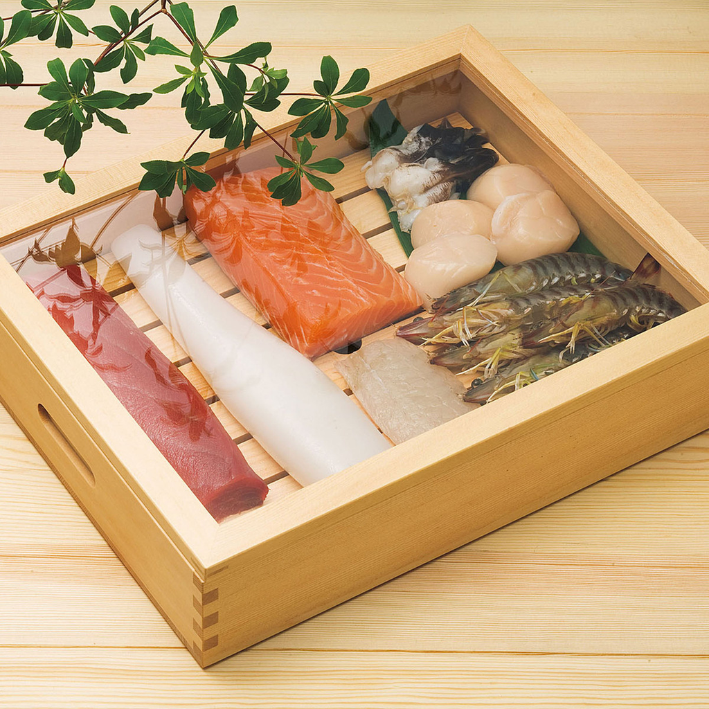 Wooden Sushi Neta Case With Cover