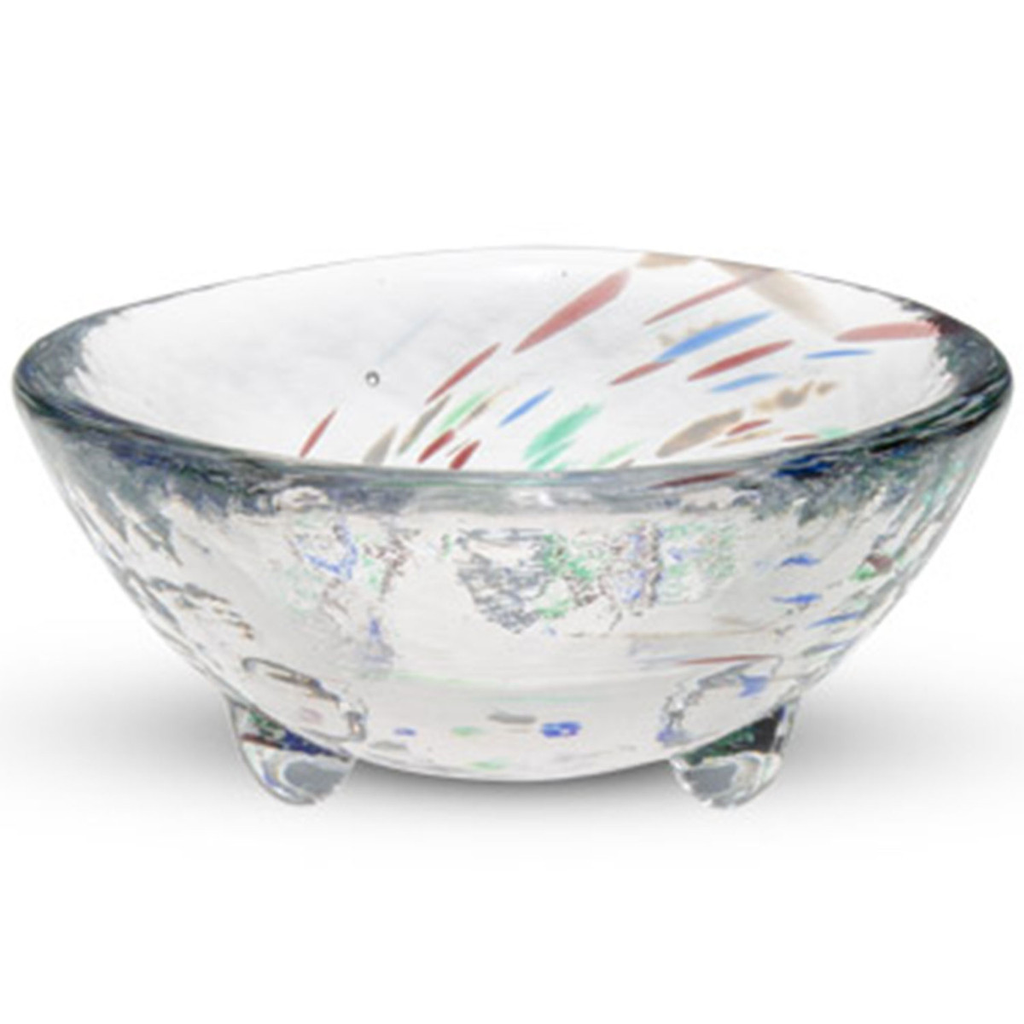 Kurage Blue Round Glass Bowl 2 oz