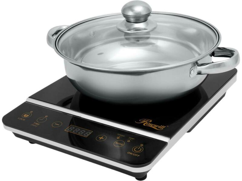 Rosewill Induction Cooker 1800-Watt, Induction Cooktop, Electric Burner