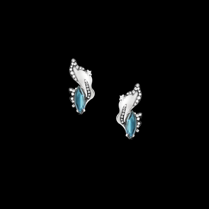 Comet Earrings - London Blue Topaz