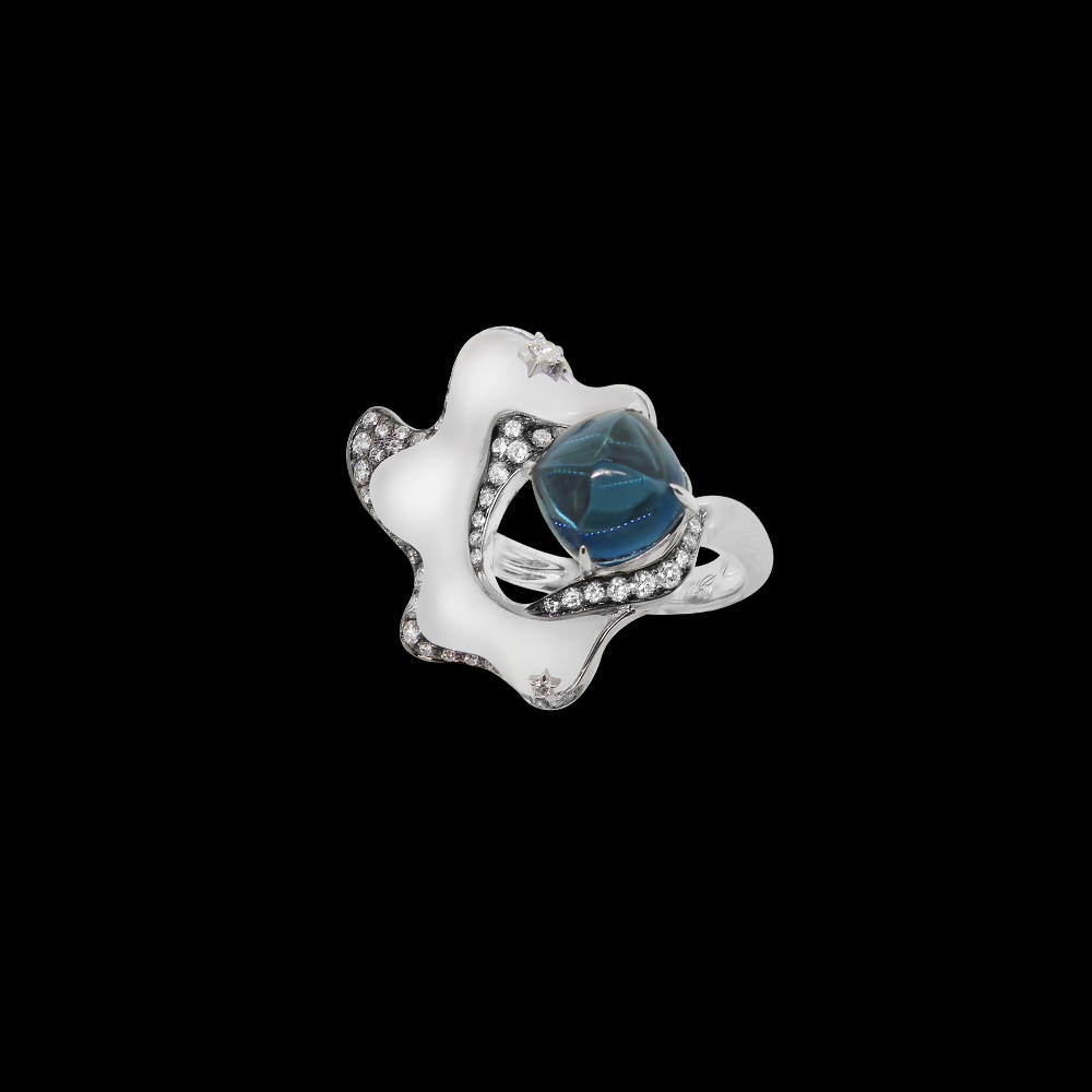 Milky Way Ring - London Blue Topaz
