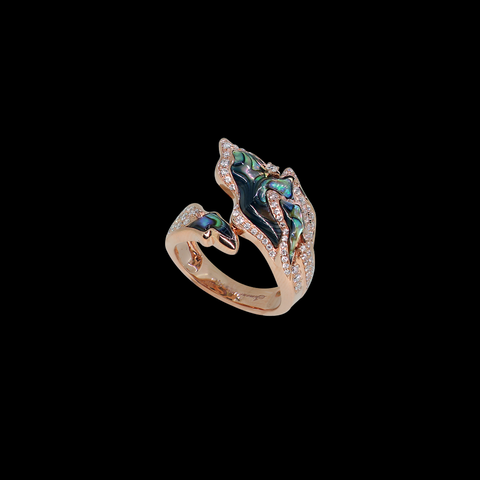 Galaxy Ring - Abalone Shell