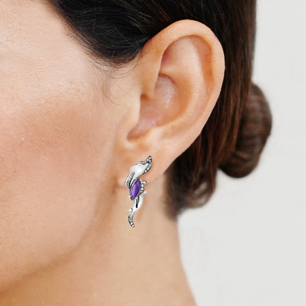 Interstellar Earrings - Amethyst