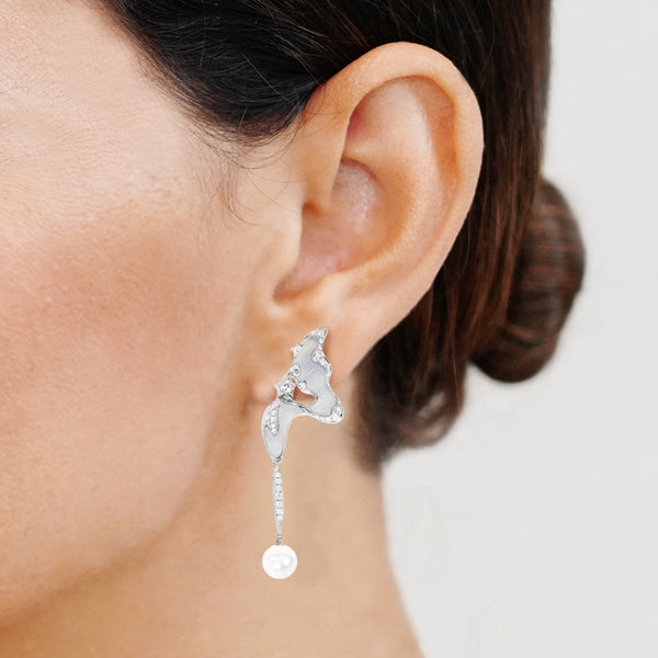 Orion Earrings - Chalcedony