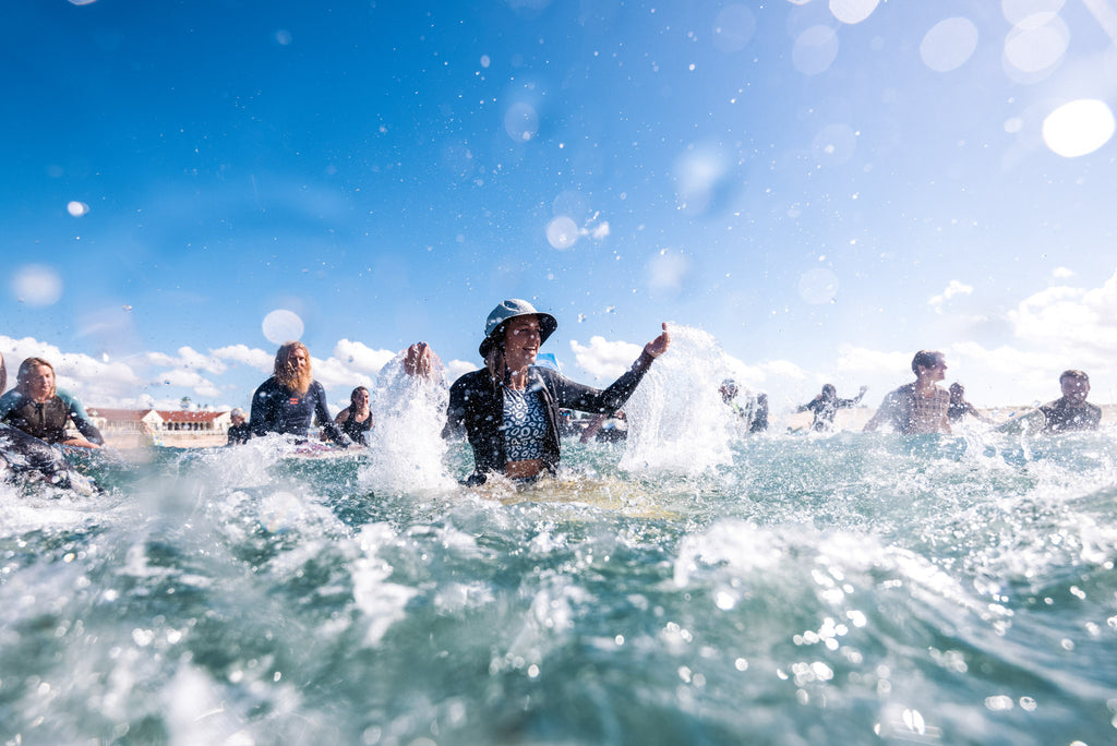 MAKING A SPLASH AT THE NEWCASTLE PEP-11 PADDLE OUT