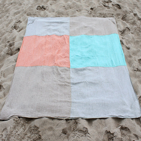 Deluxe Large Linen Beach Blanket
