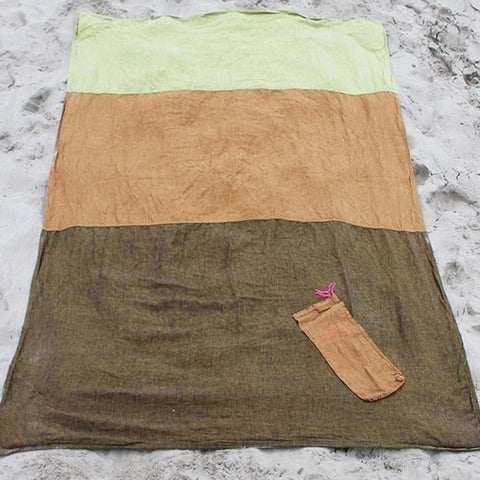 Linen Rust/Gold/Celery Beach Blanket