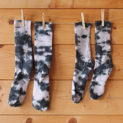 Black & White Tie-Dye Socks