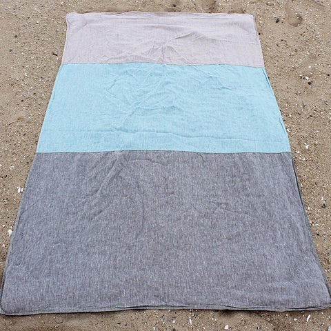 Linen Chambray / Blue / Grey Beach Blanket