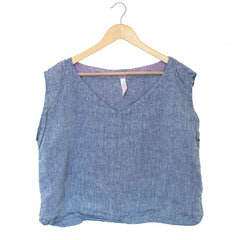 Linen Top > Chambray
