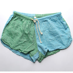 Linen Shorts > ORGANIC Blue + Green Combo