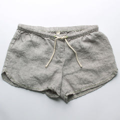 Linen Shorts > Sandy Grey Solid