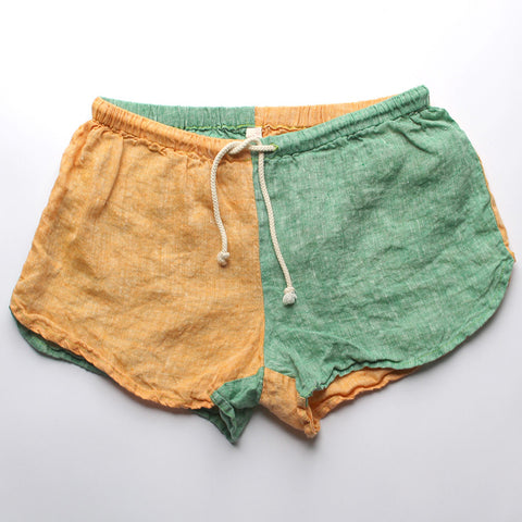 Linen Shorts > ORGANIC Lemon + Lime Combo