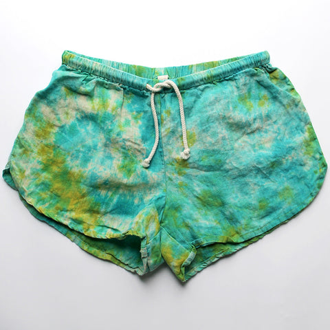 Linen Shorts > Mermaid Tie-Dye