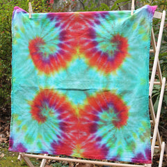 Orange Waves Tie-Dye Dish Towel