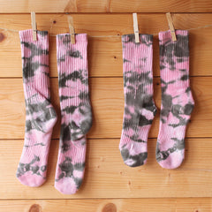 Pink Fatigue Tie-Dye Socks