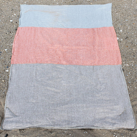 Linen Sand/Orange/Beige Beach Blanket