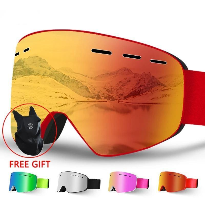 Large Unisex Anti fog Ski /Snowboard Goggles - The Accessory Home