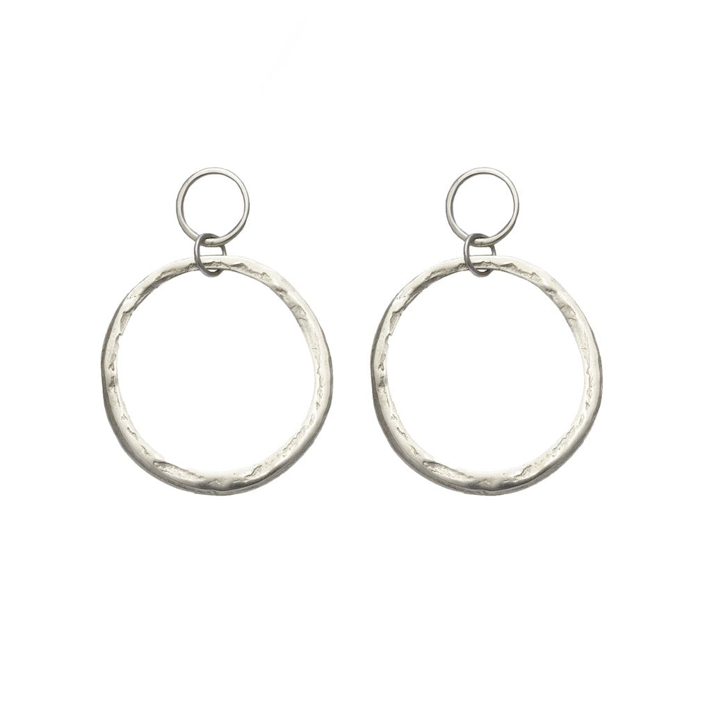 Halo Hoop Earrings / Sterling Silver