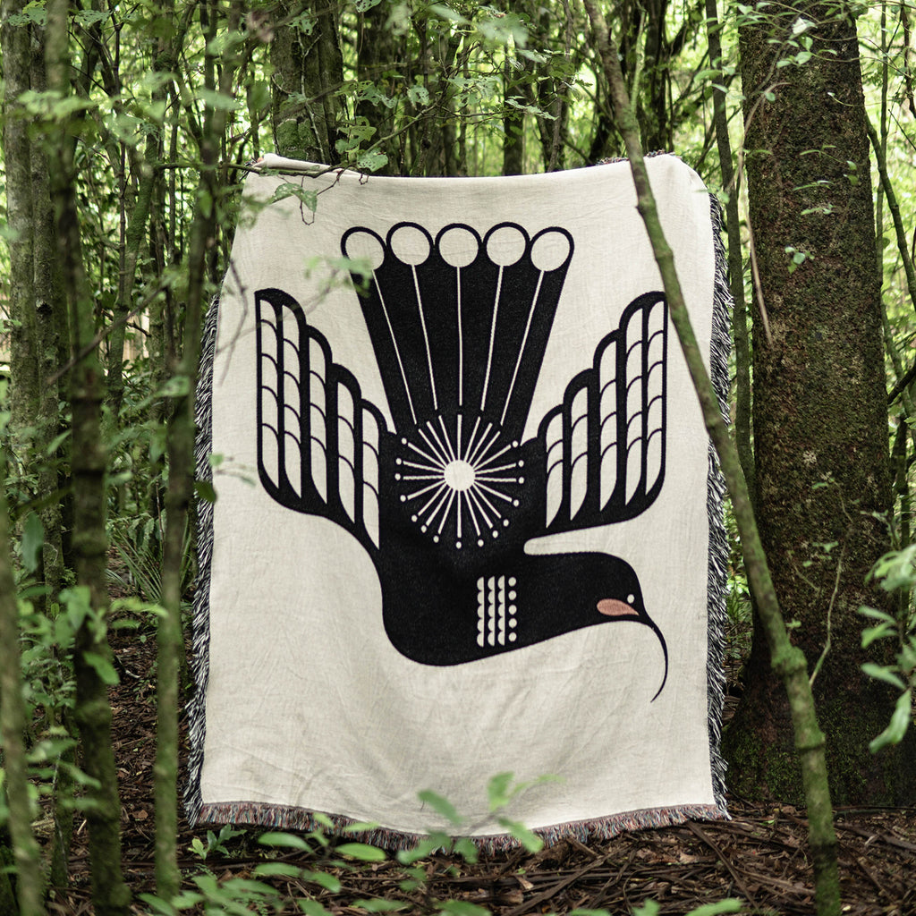 Titihuia Wooven Cotton Throw