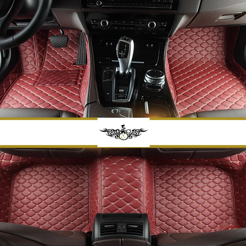 Maroon Diamond Style Front and Rear Mats