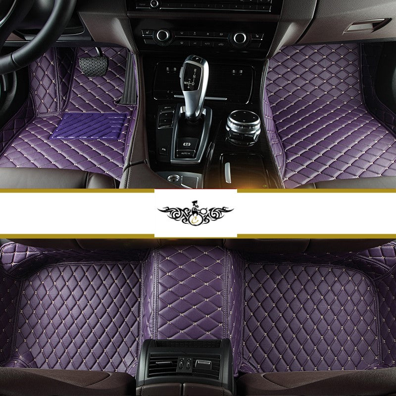 Violet Diamond Style Front and Rear Mats