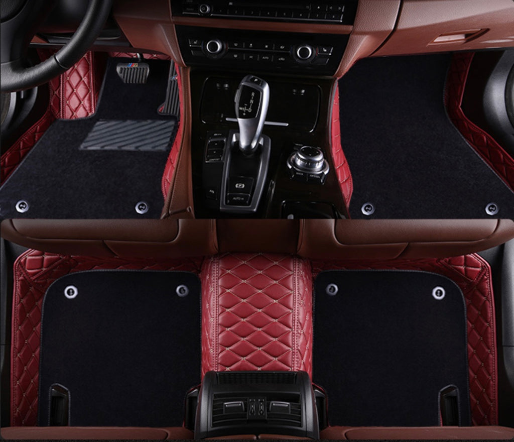 Red and Beige with Black carpet Front and Rear